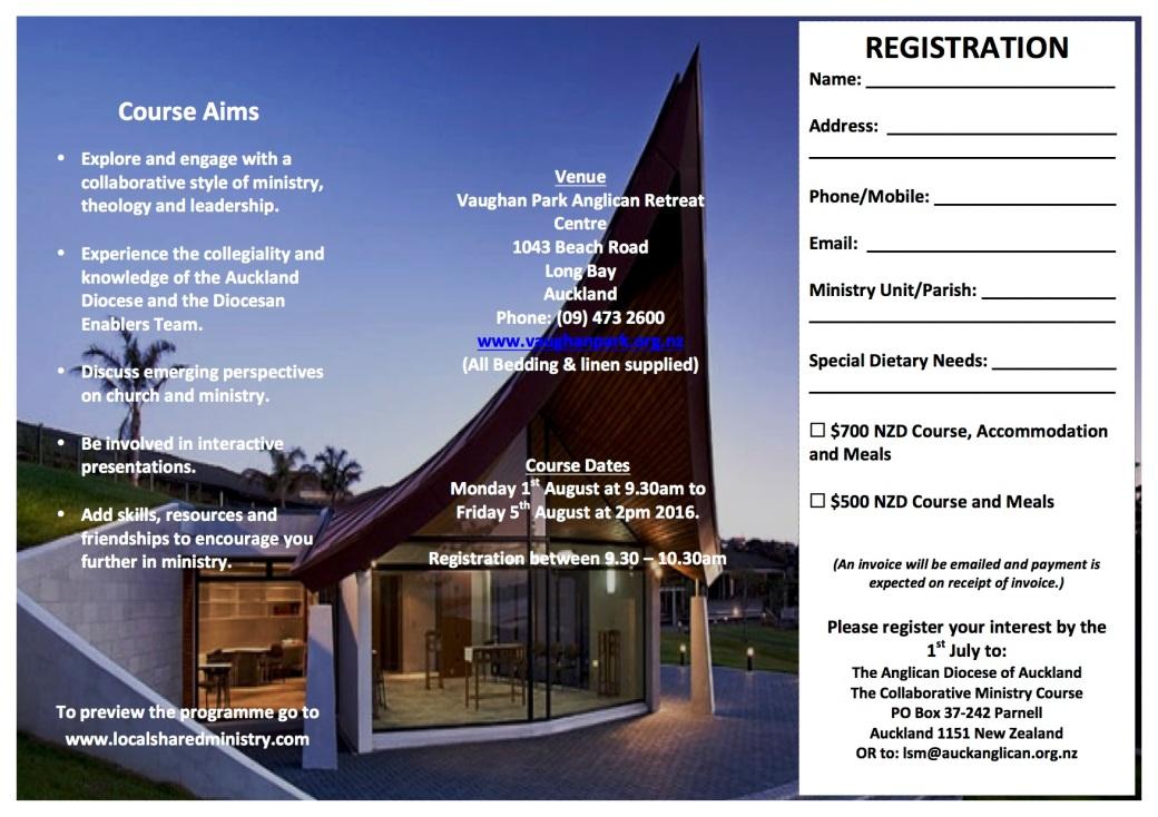 Collaborative Ministry Brochure 2016
