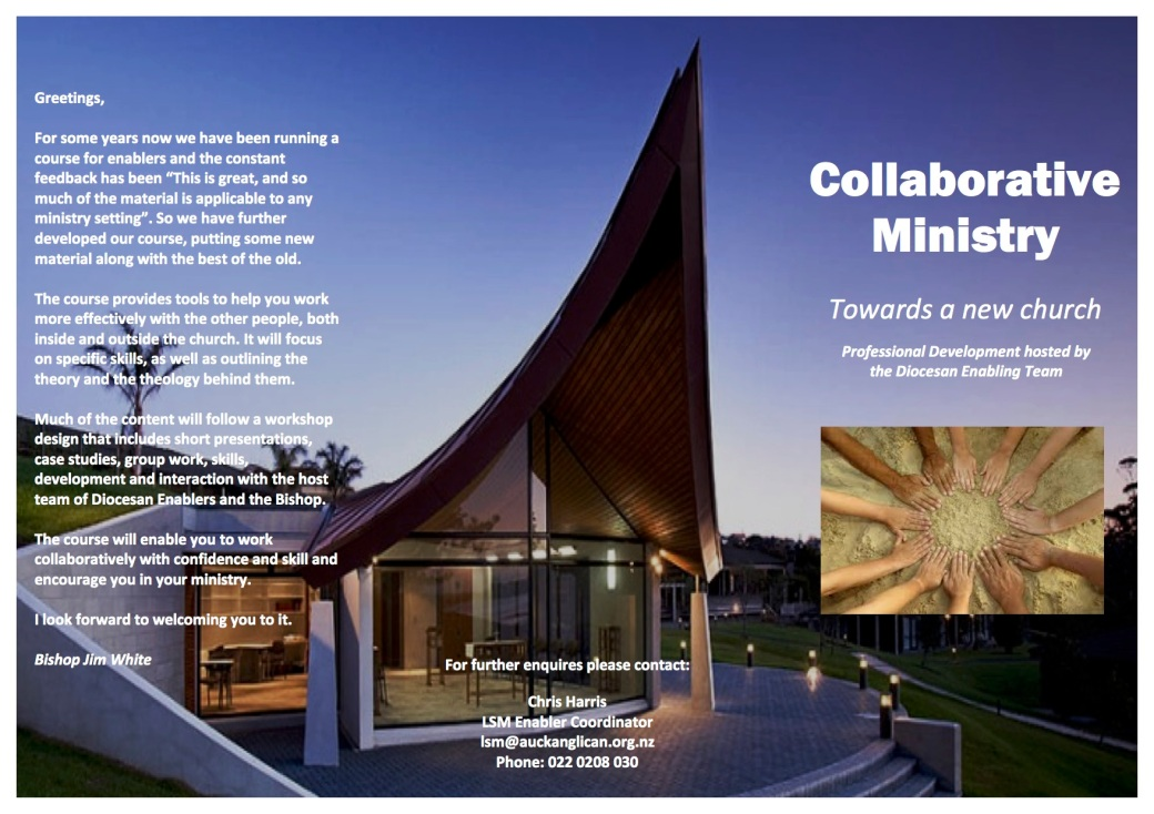 Collaborative Ministry Training Course Brochure 2016