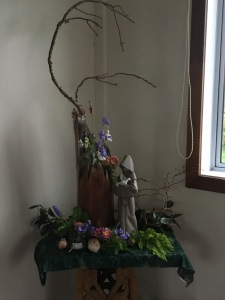 St Francis display by Ruth Lee