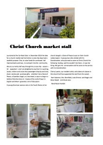 Russell Christ Church market stall